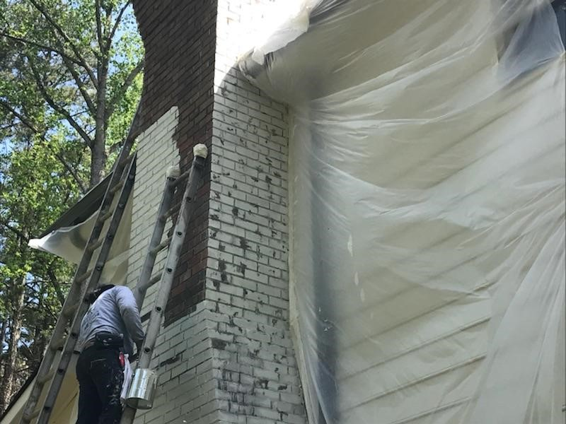 Limewash painted brick alpharetta exterior painted brick - Pros and cons of painting exterior brick ...